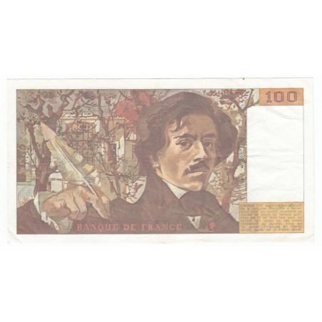 100 Francs Delacroix 1984 SUP Fayette 29.8a