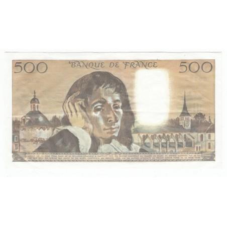 500 Francs Pascal 07-01-1982 TTB+ Fayette 71.26