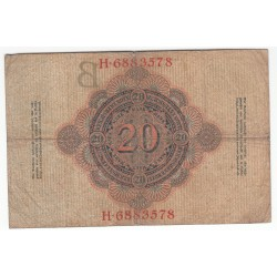 ALLEMAGNE 20 Mark 21 Avril 1910 TB+  Ros 41