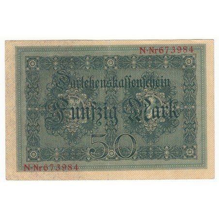 ALLEMAGNE 50 Mark 5 Aout 1914 TTB+  Ros 50
