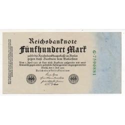 ALLEMAGNE 500 Mark 7 Juillet 1922  SUP+   Ros 71b