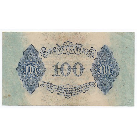 ALLEMAGNE 100 Mark 4 Aout  1922 SUP+ Ros 72