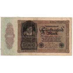 ALLEMAGNE 5000 Mark 19 Novembre 1922 TB Ros 77