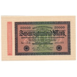 ALLEMAGNE 20000 Mark 20 Février 1923 NEUF Ros 84i