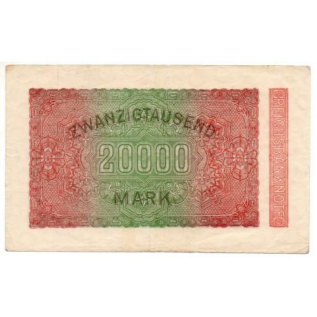 ALLEMAGNE 20000  Mark 20 Février 1923 SUP Ros 84A