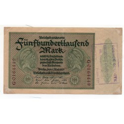 ALLEMAGNE 500.000 Mark 1 Mai 1923 TB Ros 87