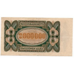 ALLEMAGNE 2 Millionen  Mark 23 Juillet 1923 TTB  Ros 89