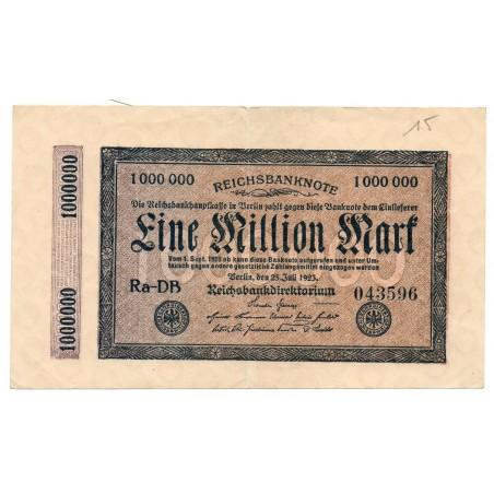 ALLEMAGNE 1 Million Mark 23 Juillet 1923 TTB Ros 93