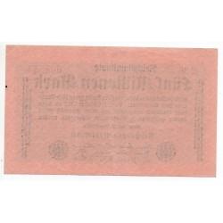 ALLEMAGNE 5 Millionen Mark 20 Aout 1923 SUP Ros 104A