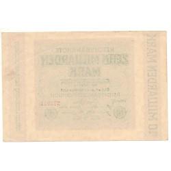 ALLEMAGNE 10 milliarden Mark 1 Octobre 1923 SUP Ros 114 C