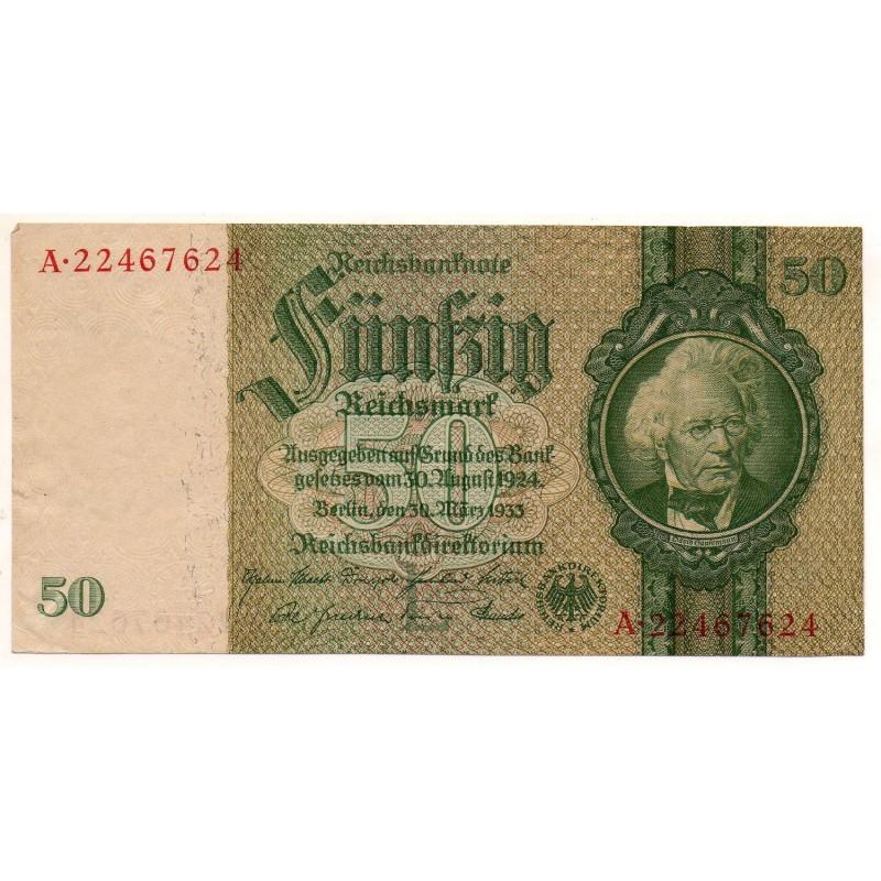 ALLEMAGNE 50 Reichsmark 30 Mars 1933 TTB Ros 175