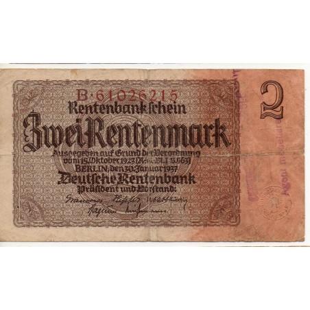 ALLEMAGNE 2 Rentenmark 30 Janvier 1937 TB Ros 167E