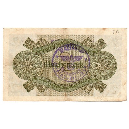 ALLEMAGNE 2 Reichsmark 1939 TB+ Ros 552