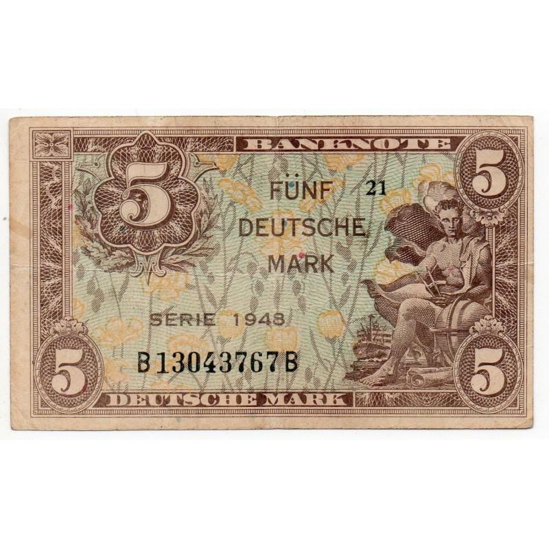 ALLEMAGNE 5 Deutsche mark Série 1948 TB+  Ros 236a